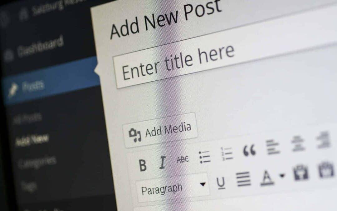 Kuvassa näkyy kuinka wordpress ohjelmassa aloitetaan artikkelin kirjoittaminen.