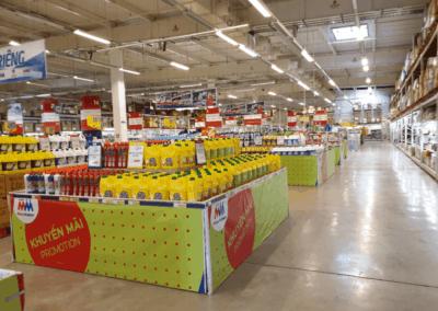 Megamarket kaupassa ei ole ruuhkaa lauantaina 8.2.2020 puolenpäivän aikaan.