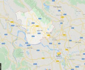 vĩnh phúc- province sijaitsee Hanoin pohjoispuolella.